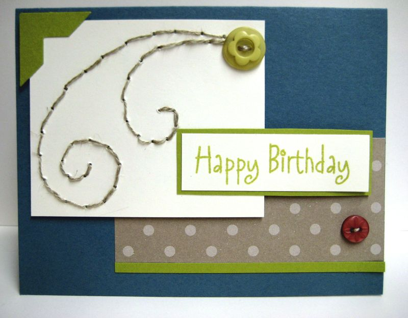 Stitched bday