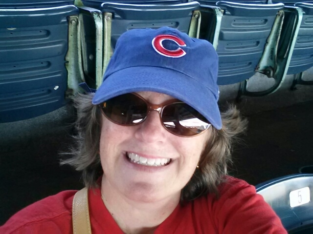 Me in cubs hat